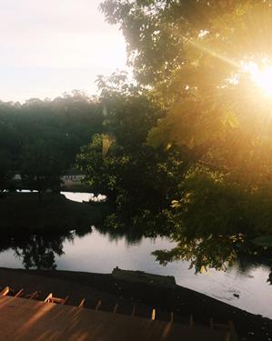 Lakehouse header sunset